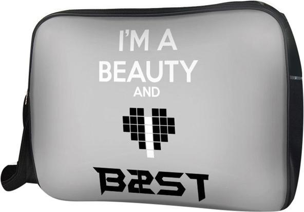 Túi Đeo Chéo Hộp Unisex Im A Beauty And Love B2St - Tckk065 34 x 9 x 25 cm