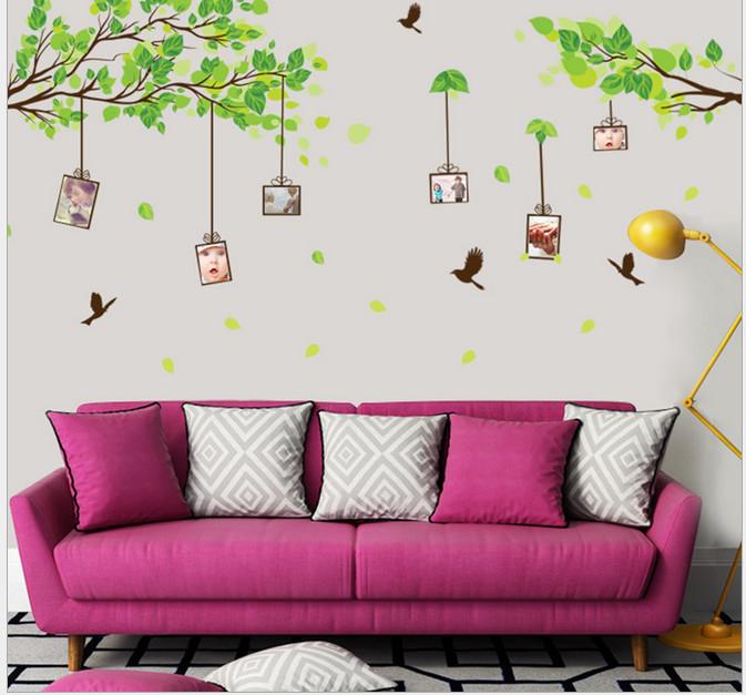 Decal dán tường Cây xanh và giàn cây - HP398