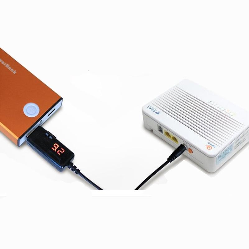 Cáp chuyển đổi điện áp từ cổng USB 5V sang 9V/12V (2in1 màn hình LED)
