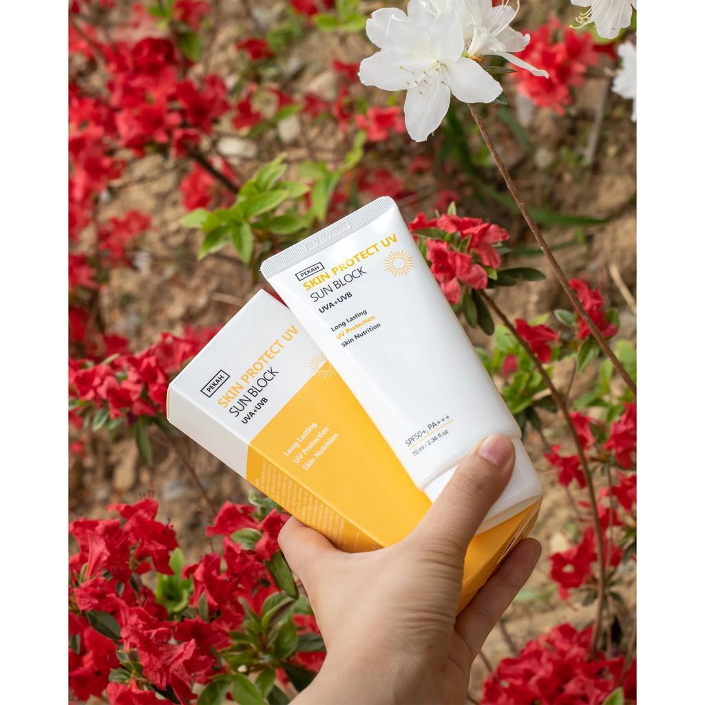 (SPF 50+) Kem Chống Nắng Dưỡng Trắng PEKAH SKIN PROTECT UV SUN BLOCK