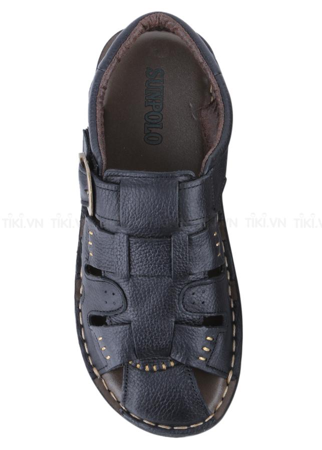 Giày Sandal Nam Da Bò Cao Cấp SUNPOLO SUSDA11