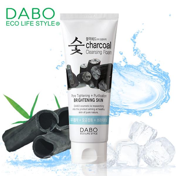 Sữa rửa mặt Dabo Than hoạt tính sạch bụi bẩn Hàn Quốc 150ml Tặng Móc khoá
