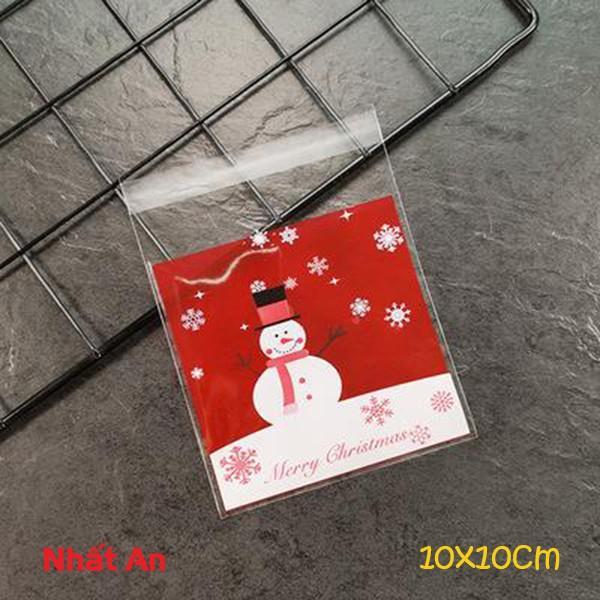 Túi dán Noel 10x10cm (Mẫu 20) - 100 cái
