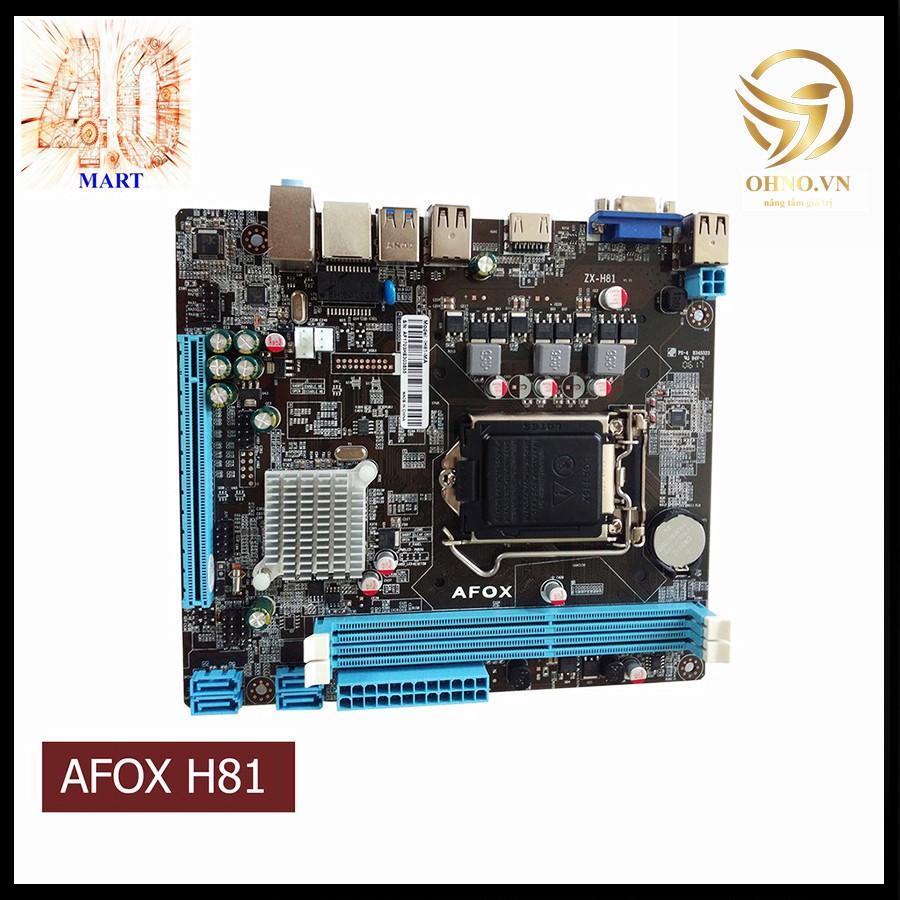 Main Máy Tính Bo Mạch Chủ AFOX H81 CHÍNH HÃNG Mainboard Linh Kiện Điện Tử Cho Máy Tính PC -hàng chính hãng