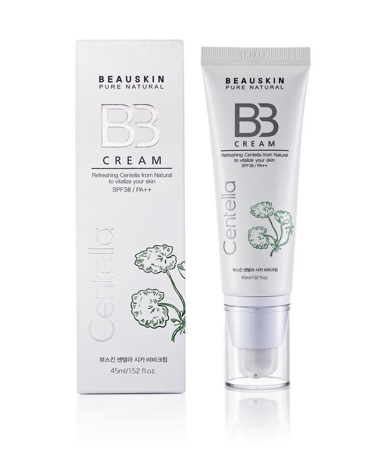 Kem nền cho da dầu kiểm soát dầu che khuyết điểm trắng da chống nắng không gây dị ứng Beauskin Centella CiCa BB Cream, HQ 45ml