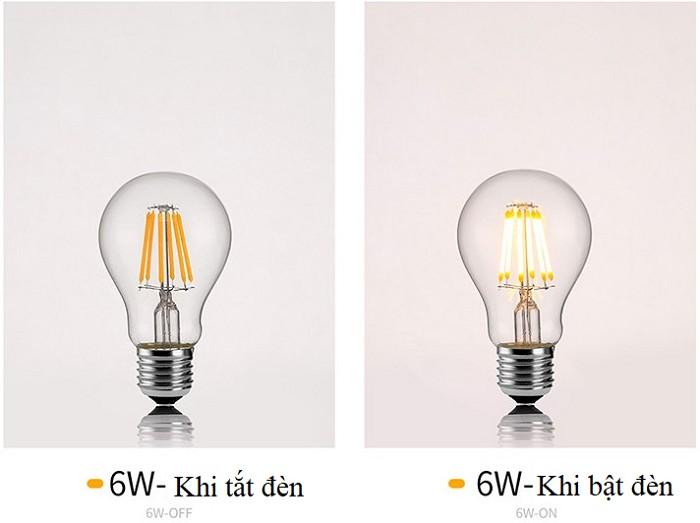 Bộ 8 bóng đèn Led Edison A60 6W đui E27.