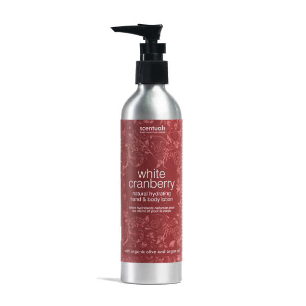 Sữa Dưỡng Thể Nam Việt Quất White Cranberry Natural Hydrating Hand & Body Lotion Scentuals (250ml)