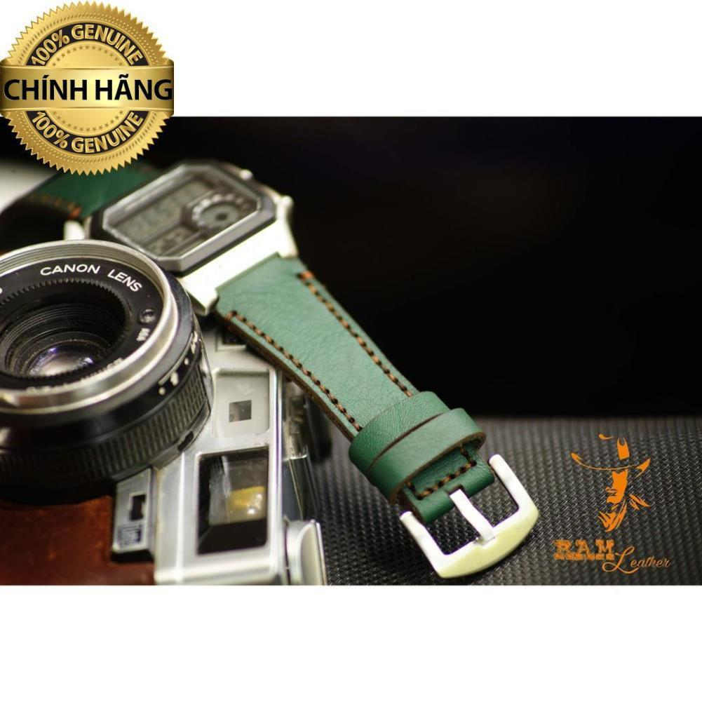 Dây đồng hồ da bò cho Casio AE1200 WHD và Seiko 5 37mm - RAM CLASSIC 1984 - HÀNG CHÍNH HÃNG