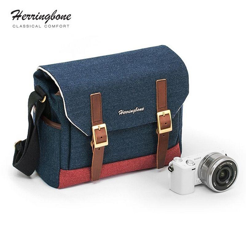 Túi máy ảnh Herringbone Postman Small - Navy color