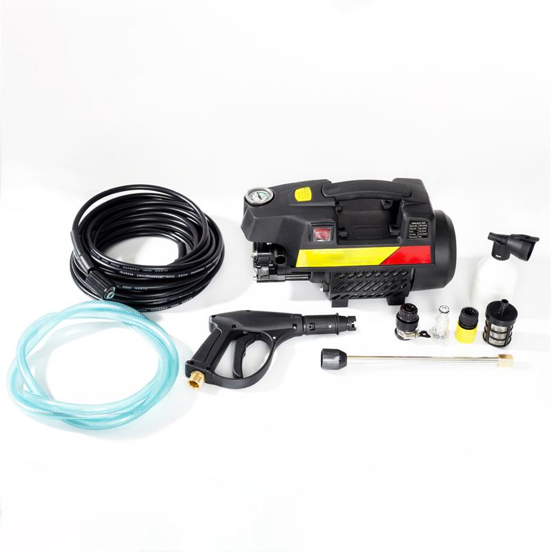 Máy rửa xe mini sử dụng điện 220V cho gia đình, dễ dàng sử dụng, ống bơm nước 15m, vòi bơm áp lực cao C0002B3