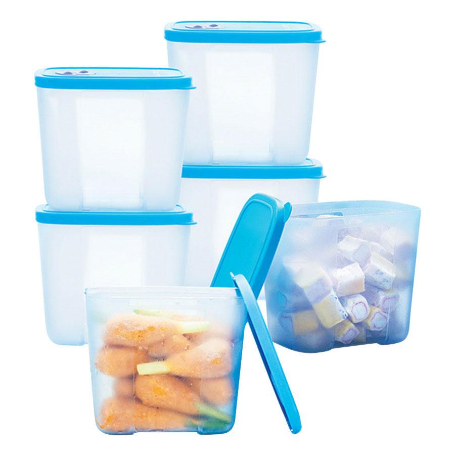 Bộ 6 Hộp Bảo Quản Thực Phẩm Đông Tupperware Freezermate Freezer 6 (820ml)