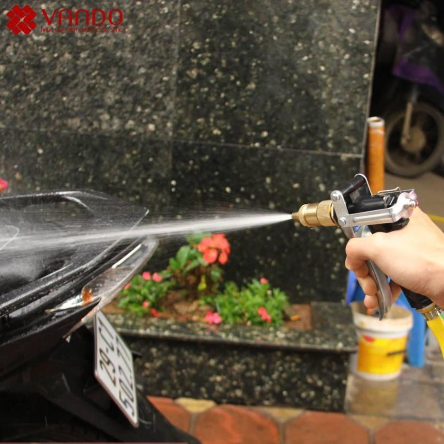 Bộ vòi xịt tăng áp 3 lần rửa xe tưới cây điều chỉnh mức nước tiết kiệm nước đa năng 206400