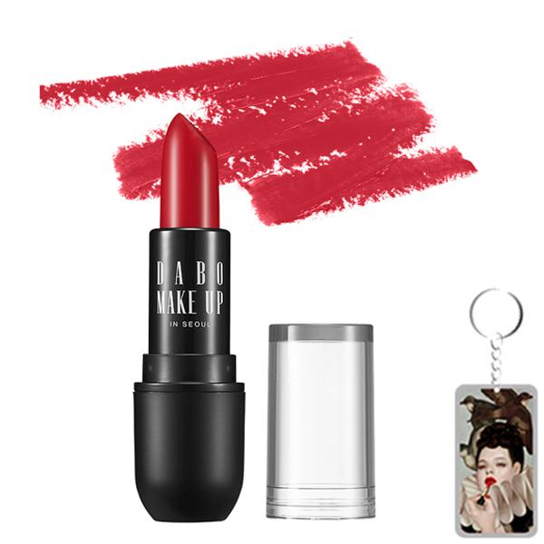 Son thỏi siêu lì nịnh môi Dabo Make Up Real RouGe Matte Hàn Quốc No.114 (Holiday) + Móc khoá