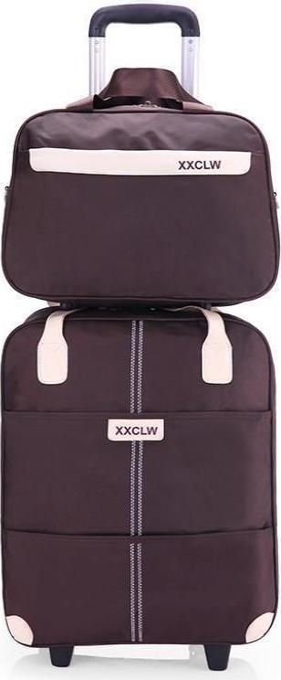 Túi du lịch tay kéo XXCLW size lớn 20inch 39x21,5x45cm túi kèm - Nâu