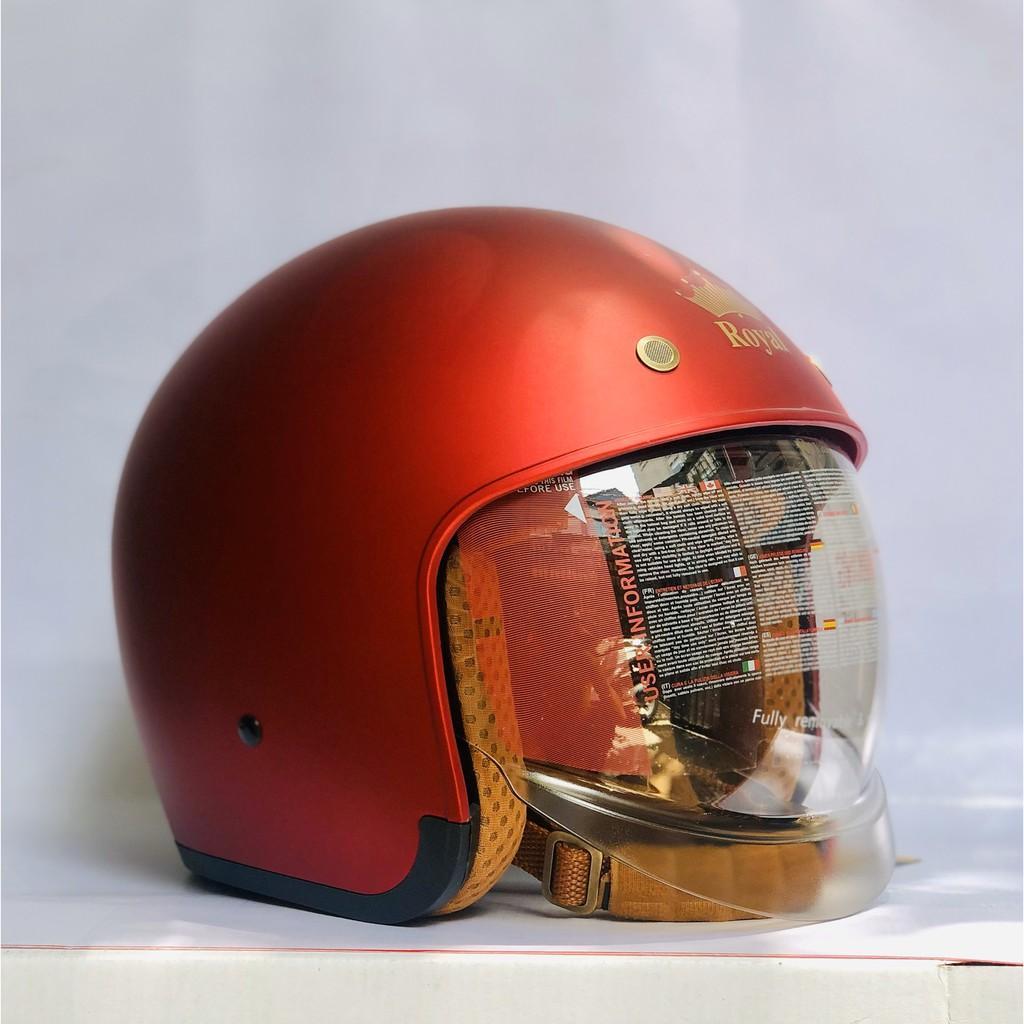 Nón bảo hiểm 3/4 ROYAL M139 có kính âm màu ĐỎ ĐÔ