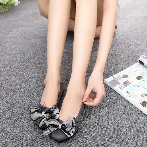 Giày búp bê nữ nơ xinh đế mềm êm chân hottrend 2021 T33 - Mery Shoes
