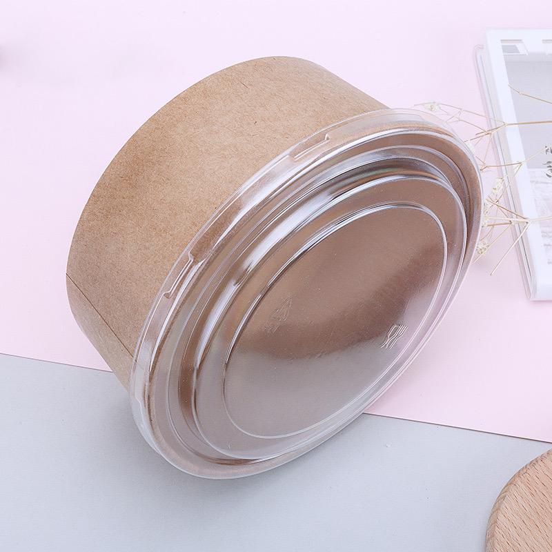 Combo 50 bộ Hộp giấy Tô giấy kraft 750ml kèm nắp PET