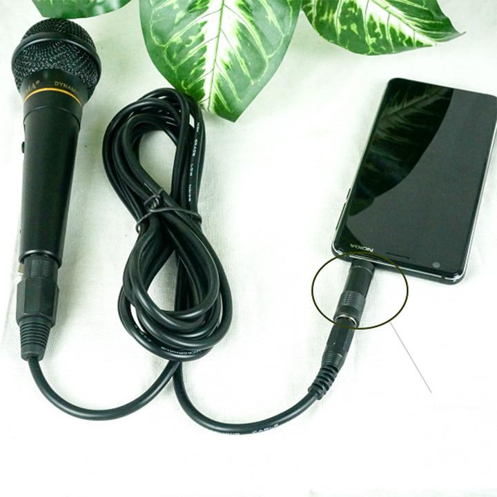 Jack chuyển micro 6.5mm sang cổng 3.5mm hát karaoke cho điện thoại máy tính - Hàng chính hãng