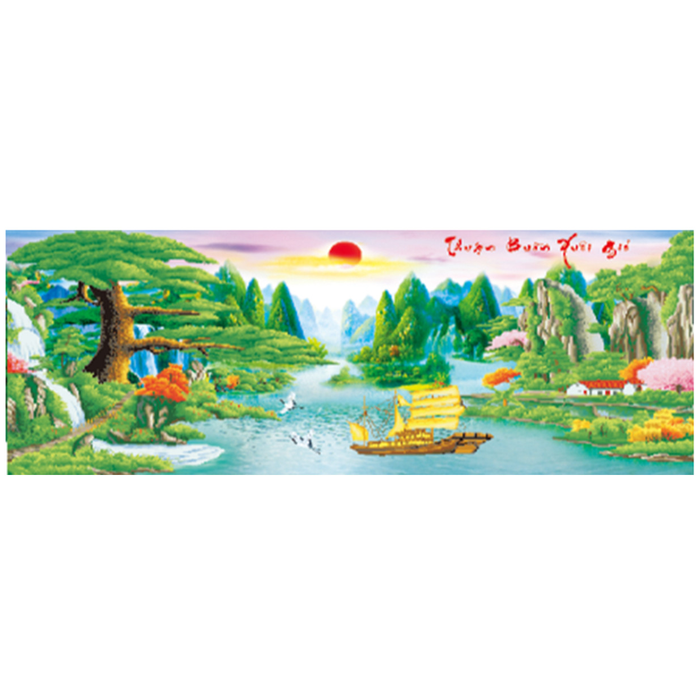 Tranh đính đá thuận buồm xuôi gió(150*70cm)