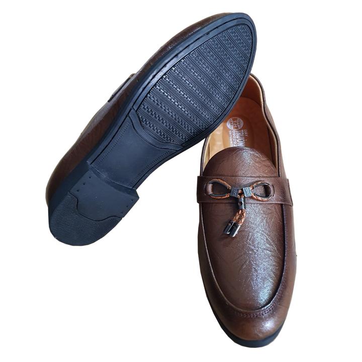 Giày Tây Nam Không Dây Da Bò Thật Màu Vàng Chính Hãng Trường Hải GT280  Đế Cao Su Không Trơn