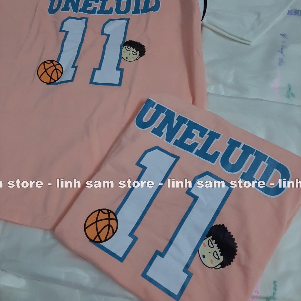 Áo thun tay lỡ nữ sports  freesize phông form rộng Unisex, mặc lớp, nhóm, cặp phối kiểu bóng rổ in SỐ 11 chữ UNELUID