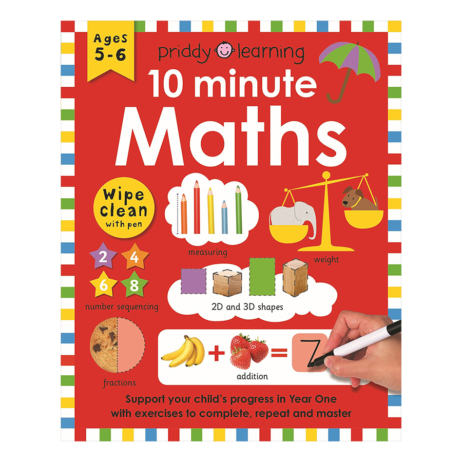 Priddy Learning 10 Minute Maths Wipe Clean Workbooks (Ages 5+)