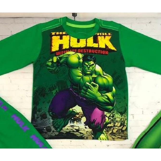 Bộ dài tay người khổng lồ xanh Hulk