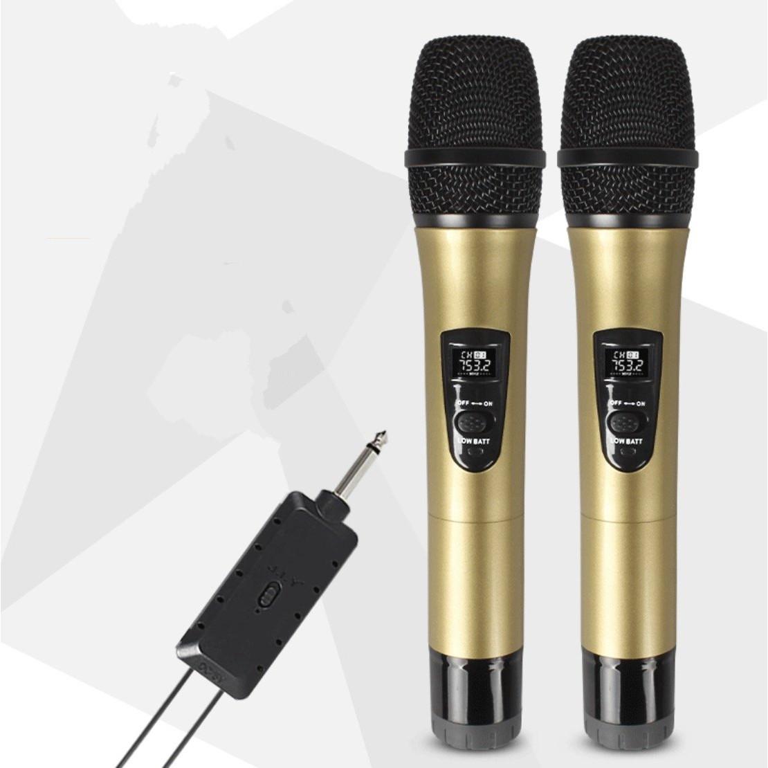 Bộ 2 micro karaoke không dây KTV J.I.Y️ LCD 1284