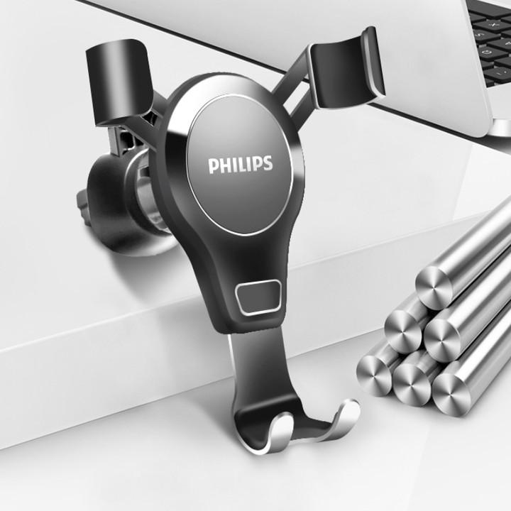 Giá đỡ điện thoại cài hốc gió trên ô tô cao cấp Philips DLK3412N