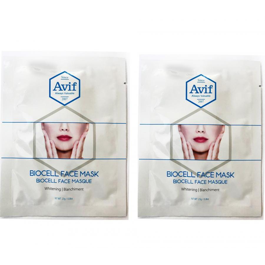 Combo bộ 2 miếng mặt nạ Avif biocell dưỡng trắng da - Avif biocell whitenig face mask