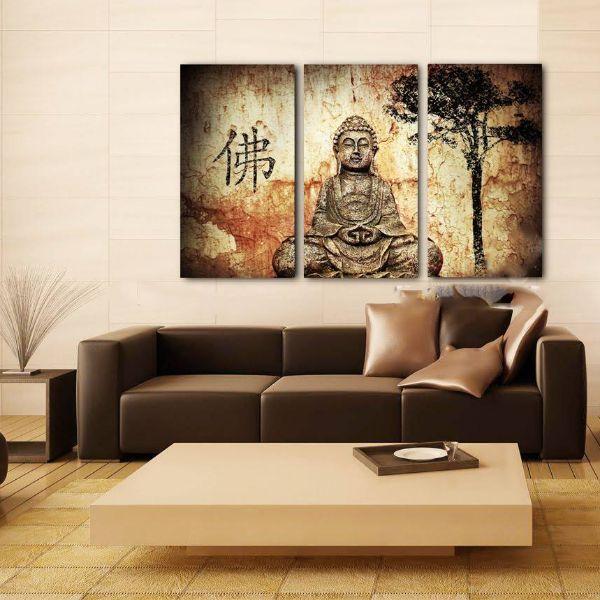 Tranh Treo Tường Hiện Đại Phòng Khách - Phật Giáo 132-a-b-c