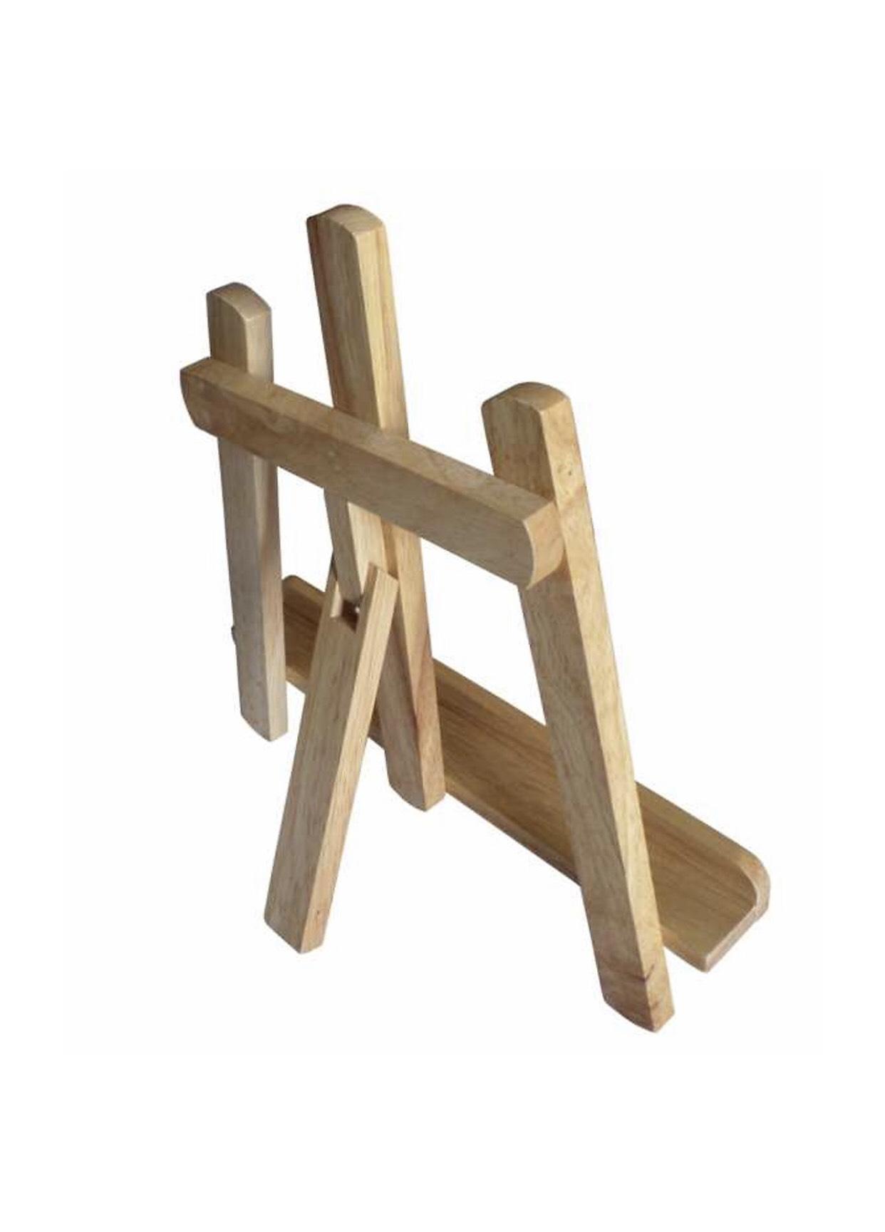 Giá đỡ ibad, đỡ sách chống cân gỗ cao su KH17001