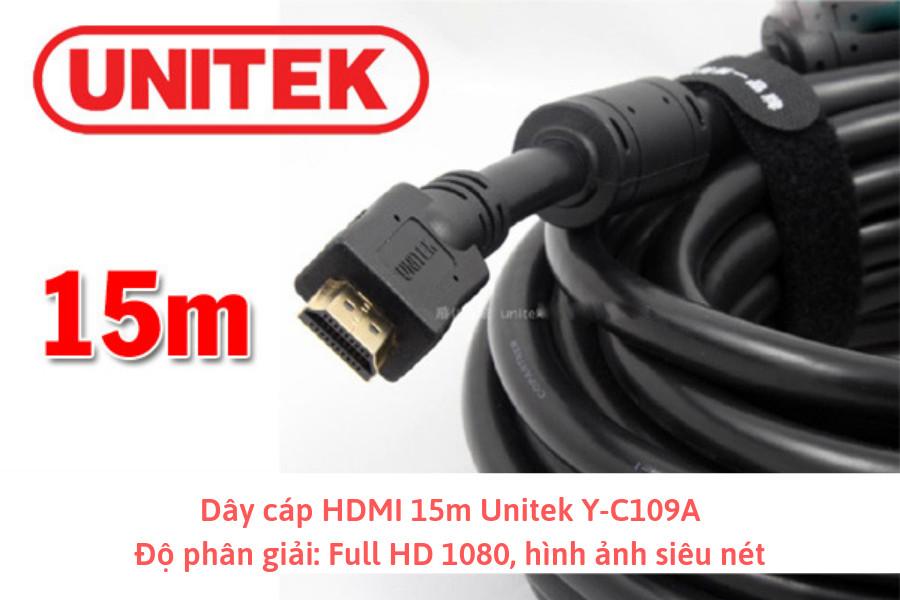 Cable 15m HDMI Unitek Y-C109A - Hàng chính hãng