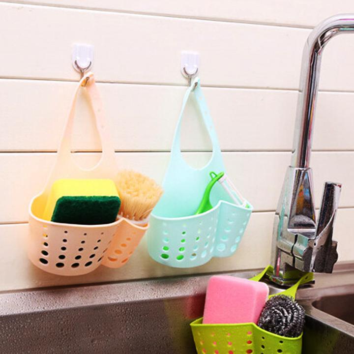 Kệ nhà bếp 2 tầng hít tường + Tặng giỏ nhựa treo bồn rửa chén