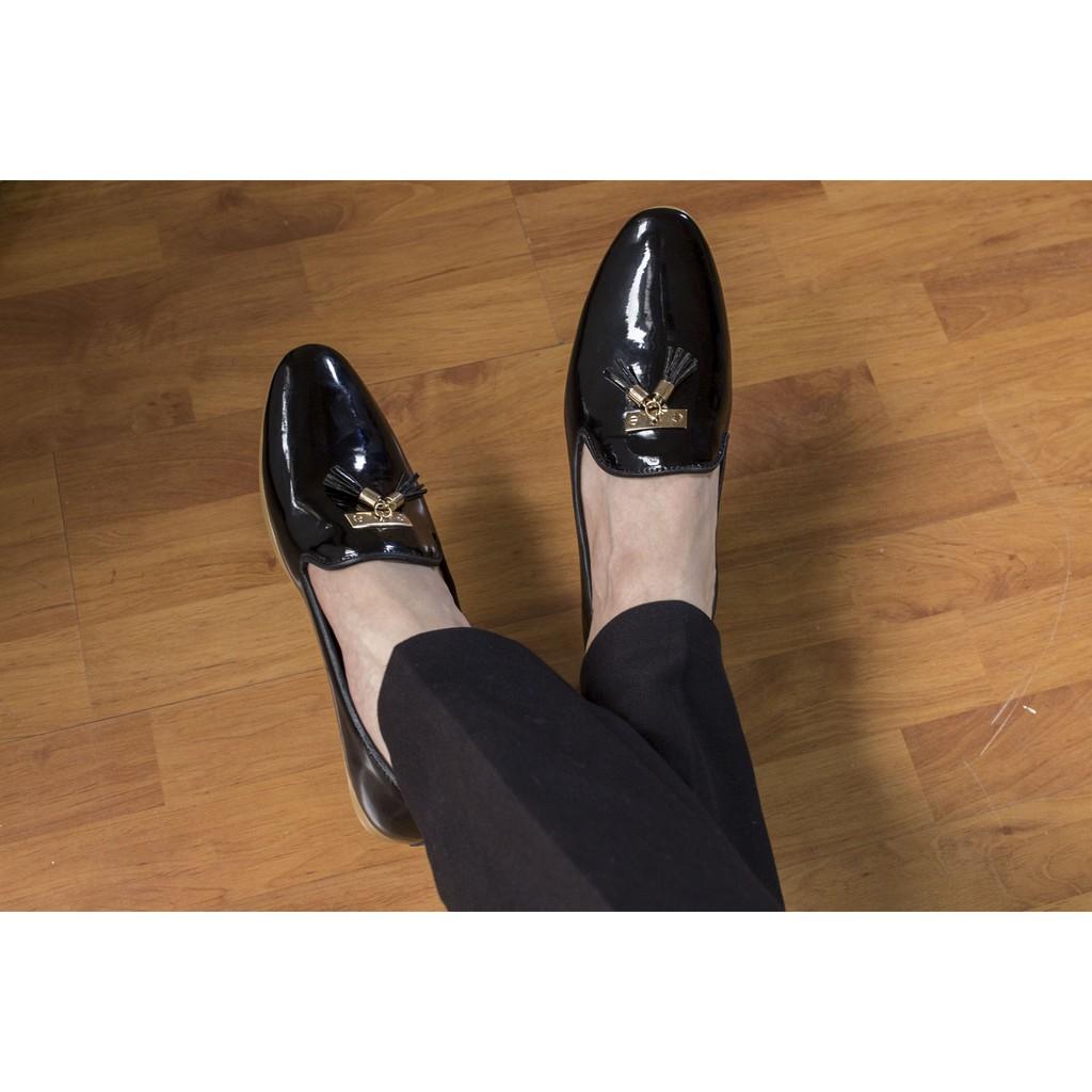 Giày lười chuông vàng da bóng phong cách hàn quốc -( SIZE 38 )