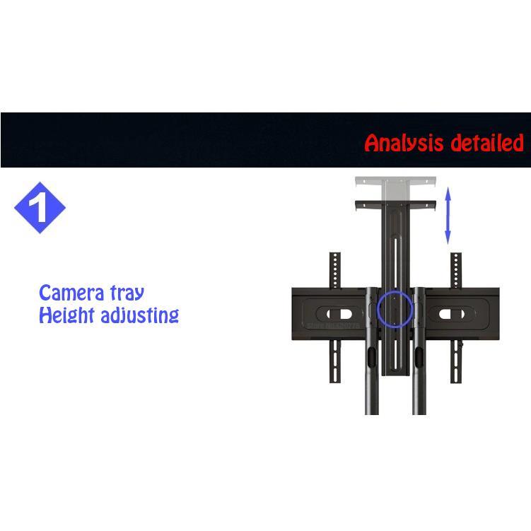 Giá treo tivi di động nhập khẩu AVA1500-60-1P (Đ8) màu đen cho tivi 32-65 inch