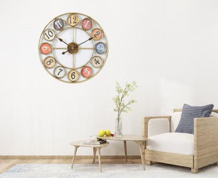 Đồng hồ treo tường bằng Kim Loại Cao Cấp Dành Cho Gia Đình, Văn Phòng