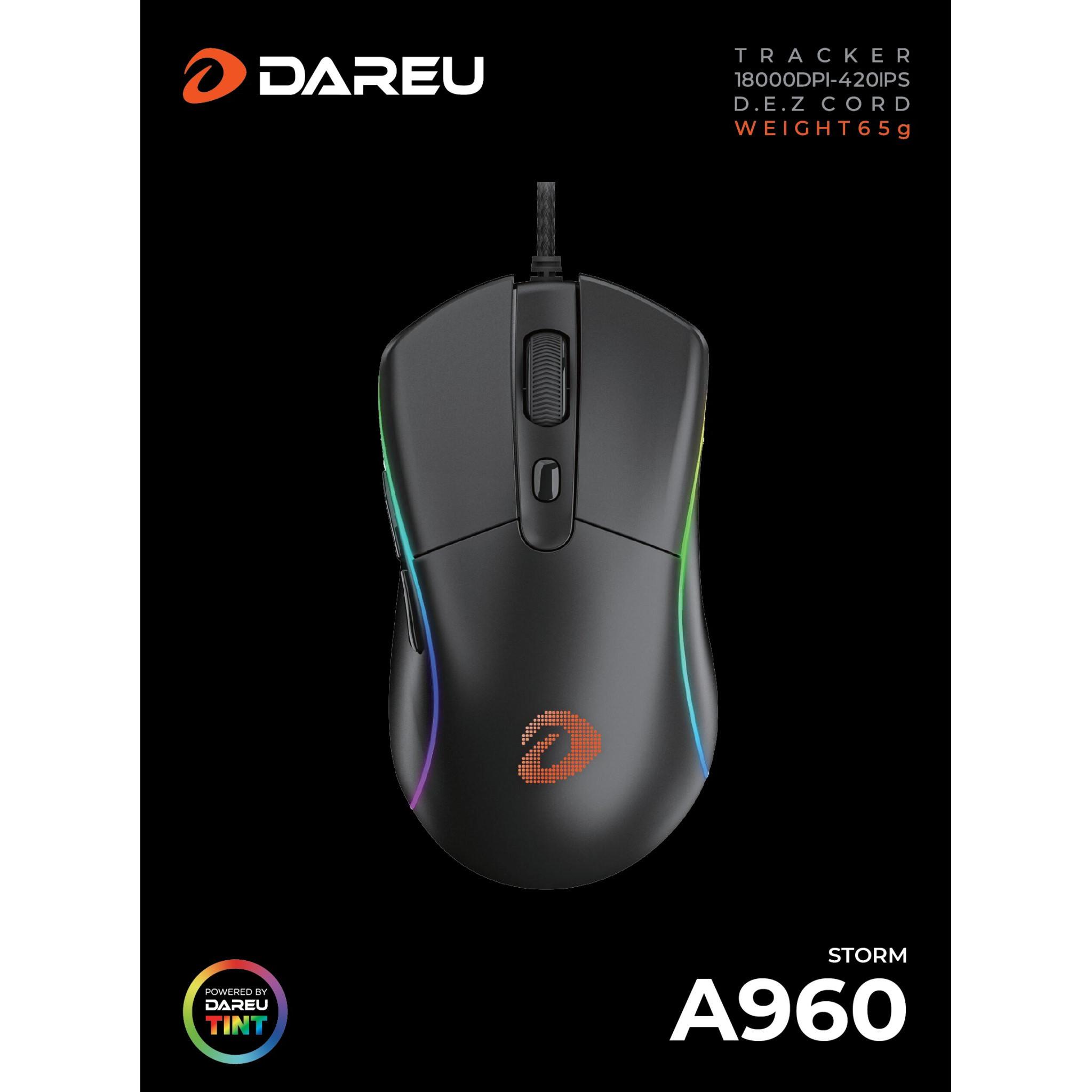 Chuột Gaming Dareu A960 RGB Gaming Mouse - Hàng Chính Hãng