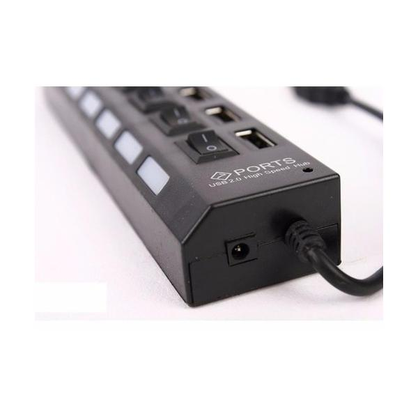 Hub USB 7 cổng có công tắc (Giao Màu ngẫu nhiên)