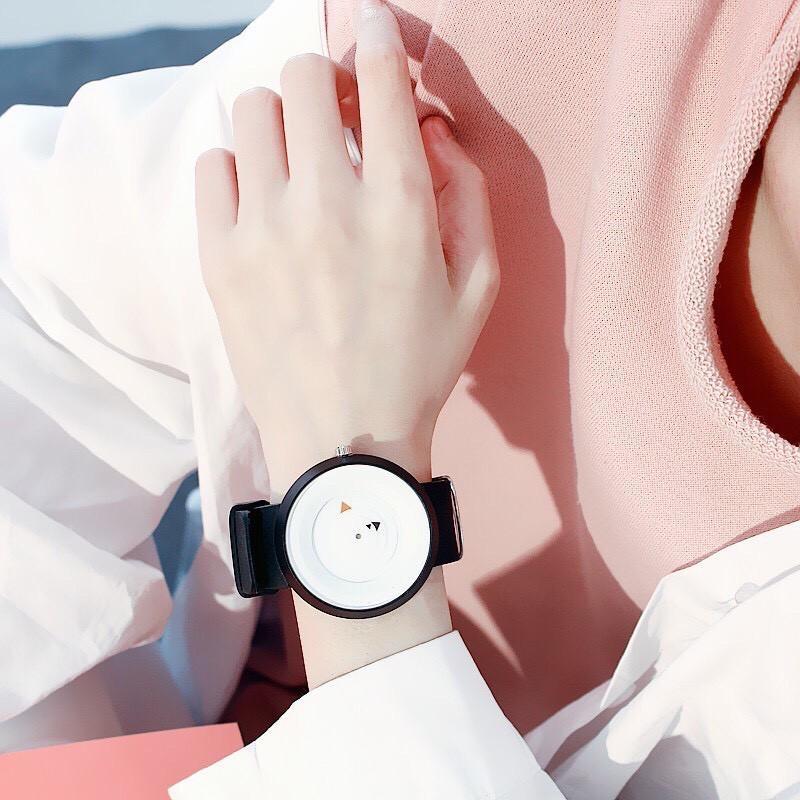Đồng hồ unisex Jis dây cao su mặt ngộ nghĩnh phong cách teen (có Video)