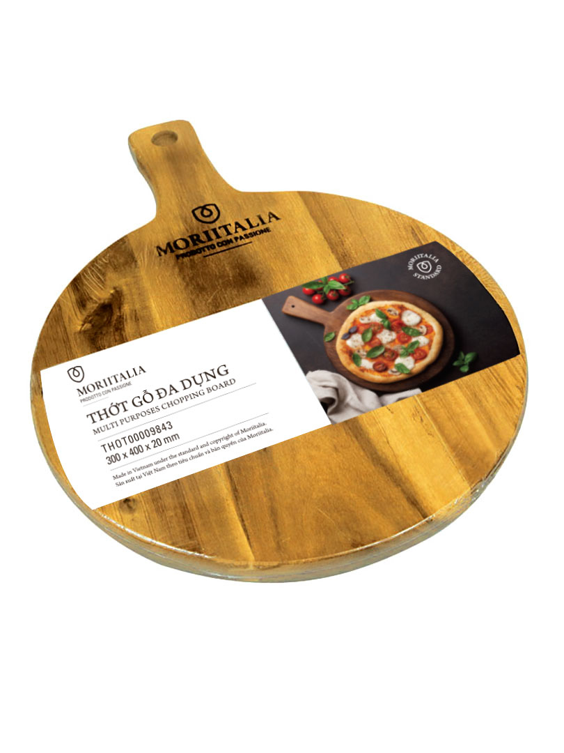 Thớt gỗ đa dụng Moriitalia 300x400x20mm