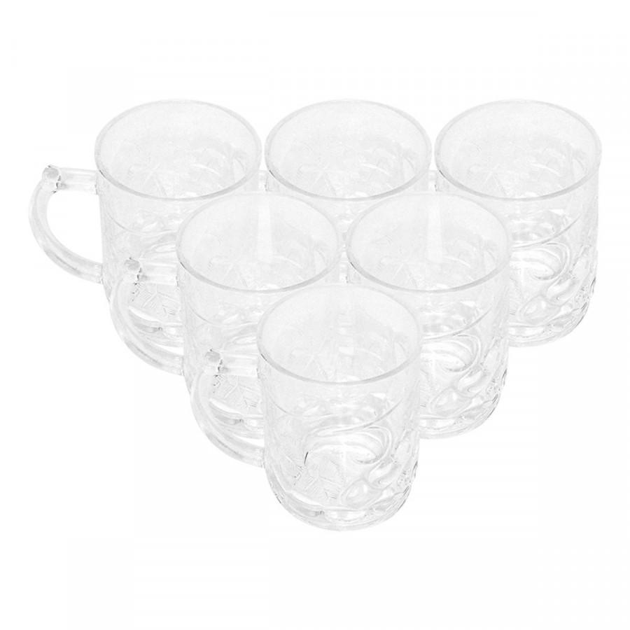 Bộ ly 6 cái Union Glass 196 Ly quai nho 310 ml  không ngã màu,  sản xuất Thái Lan