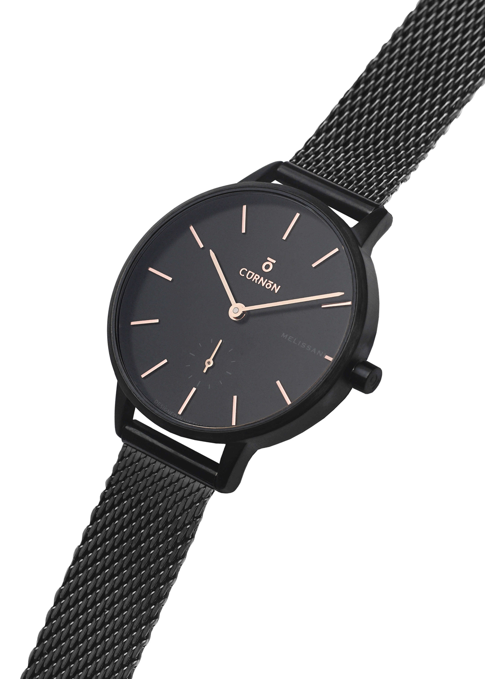 Đồng hồ nữ Dây Kim Loại Curnon Melissani Gale Kính Sapphire (32mm)
