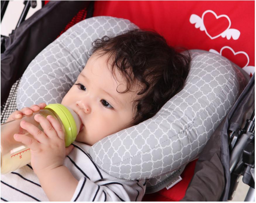Gối giữ đầu cố định cho bé trên xe nôi, gối chống vẹo cổ cho bé trên xe nôi, giường, xe đẩy, gối xe nôi….an toàn cho bé BB44-GXNoi
