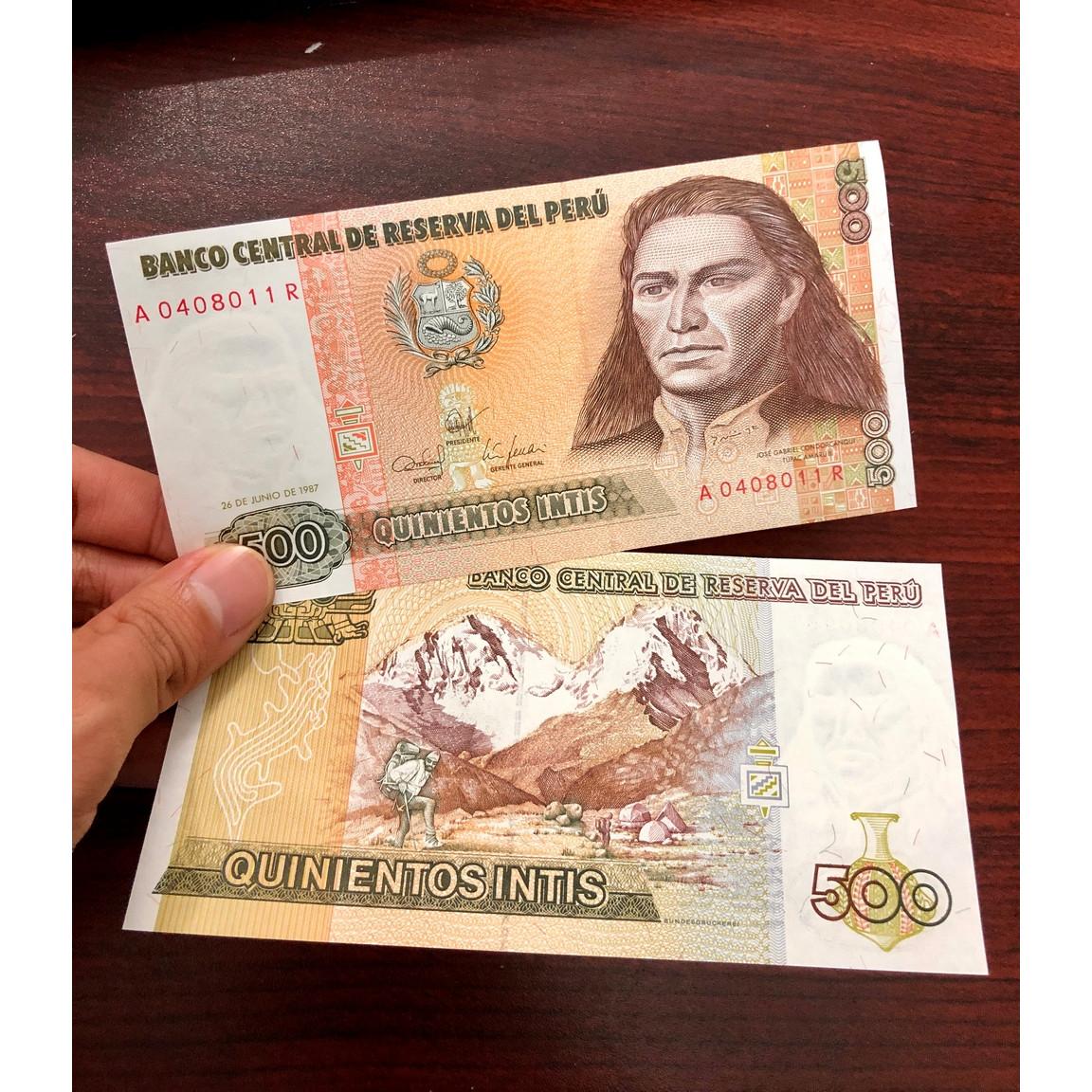 Tiền Peru 500 Intis năm 1988 xưa, sưu tầm tiền Nam Mỹ