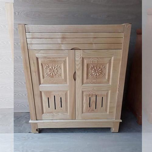 Tủ giày 2 cánh gỗ sồi màu tự nhiên