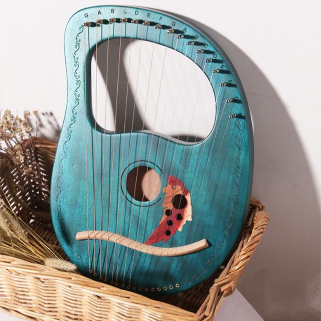 Đàn Lyre 16 dây đàn hạc Lyre Harp MOLIN-ML07 Đầy đủ phụ kiện LOẠI 16 DÂY tặng đàn kalimba 17 phím gỗ nguyên khối Mahagony PJLIM72