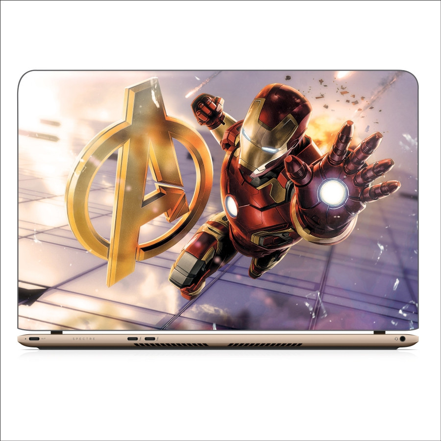 Miếng Dán Skin In Decal Dành Cho Laptop - Iron man 2 - 15.6 inch - Mặt trước  bàn phím