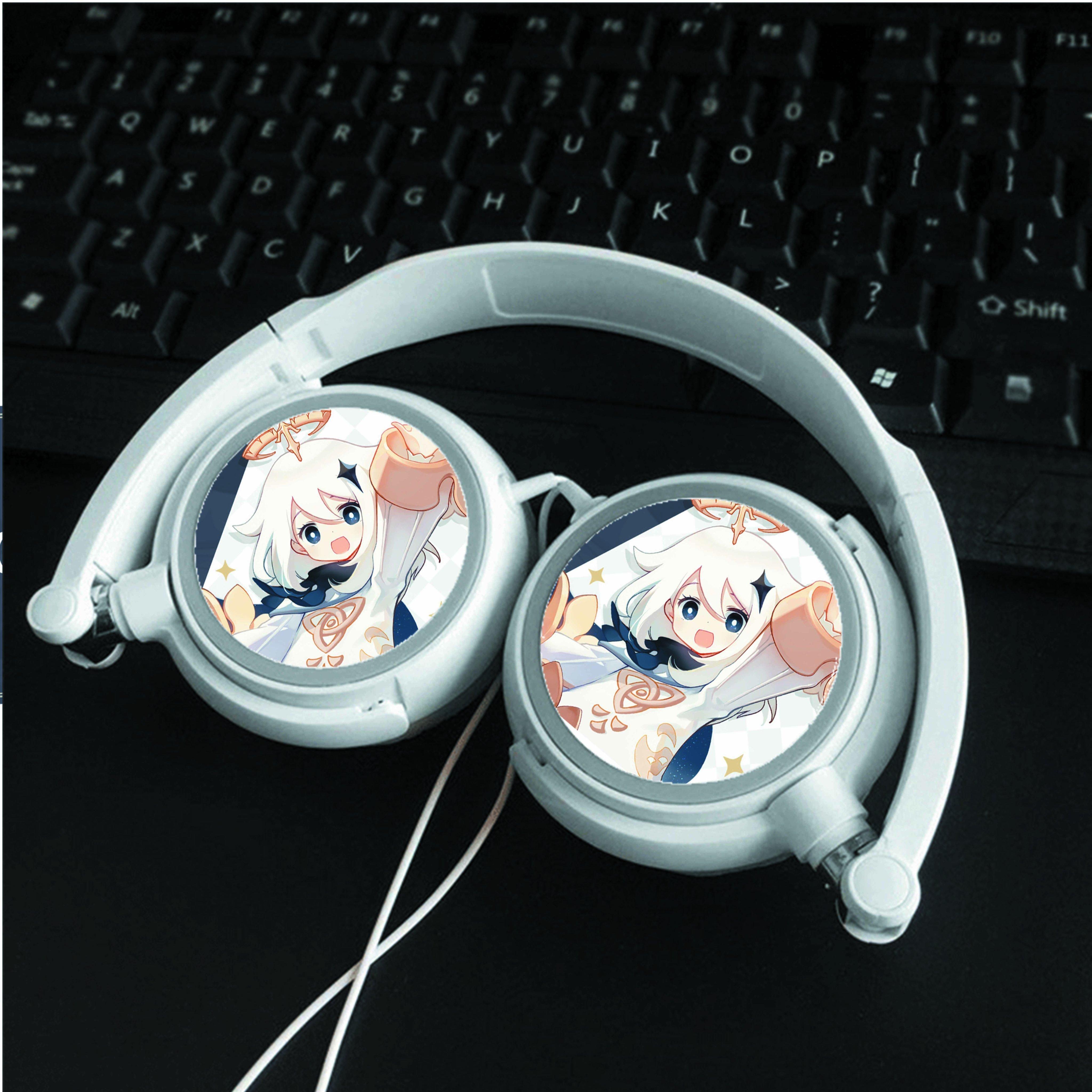 Tai nghe Genshin Impact thiết kế thông minh cá tính cắm dây có mic anime chibi