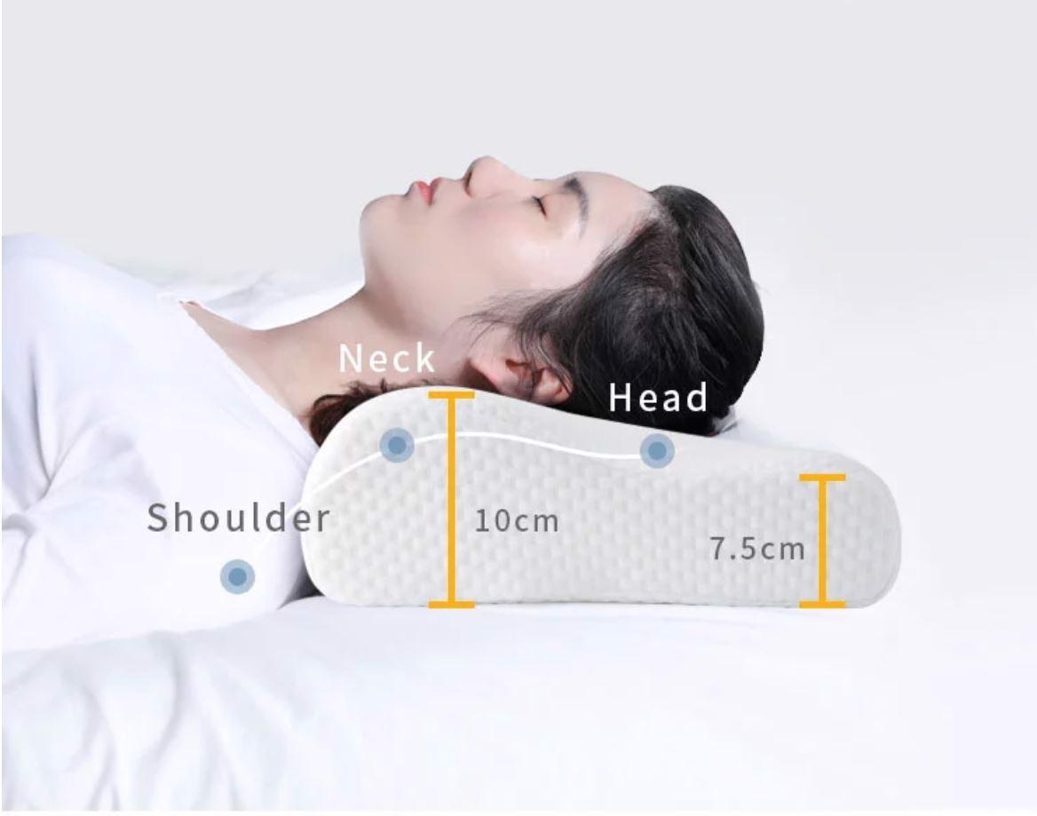 Gối ngủ cao su non cao cấp, ngăn ngừa các vấn đề khi ngủ, chăm sóc giấc ngủ của bạn. Giao màu ngẫu nhiên
